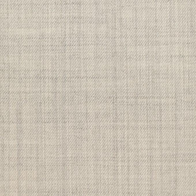 ウール&ナイロン混×無地(ライトグレー)×サージストレッチ イメージ1