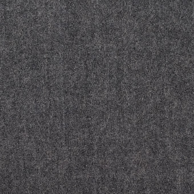 ウール×無地(チャコールグレー)×ジョーゼット イメージ1