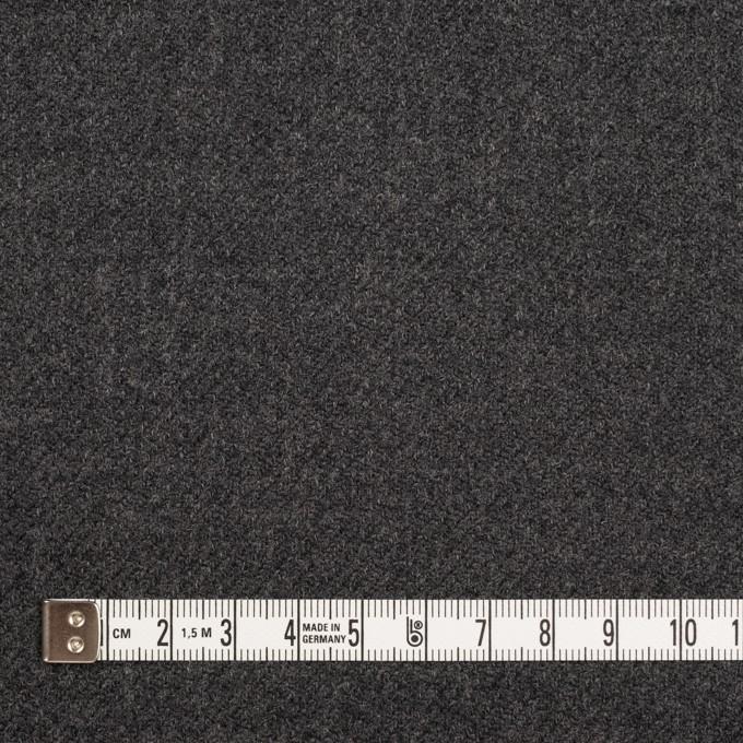 ウール×無地(チャコールグレー)×サキソニー イメージ4