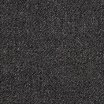 ウール×無地(チャコールグレー)×サキソニー