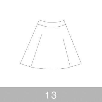 オリジナルパターン#017_ヨーク切替フレアスカート_13号