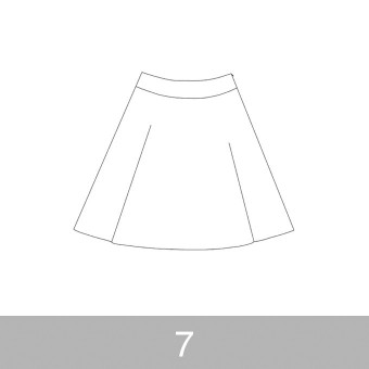 オリジナルパターン#017_ヨーク切替フレアスカート_7号