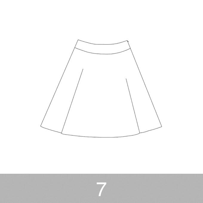 オリジナルパターン#017_ヨーク切替フレアスカート_7号 イメージ1