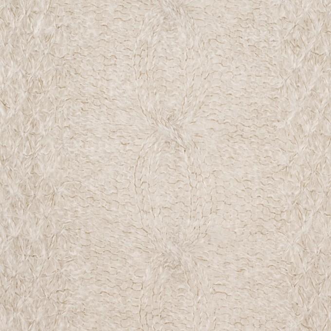 ウール&ナイロン×無地(グレイッシュベージュ)×ジャガードニット イメージ1