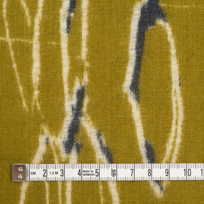 ウール×幾何学模様(アンティークゴールド)×薄サージ_全2色 イメージ4