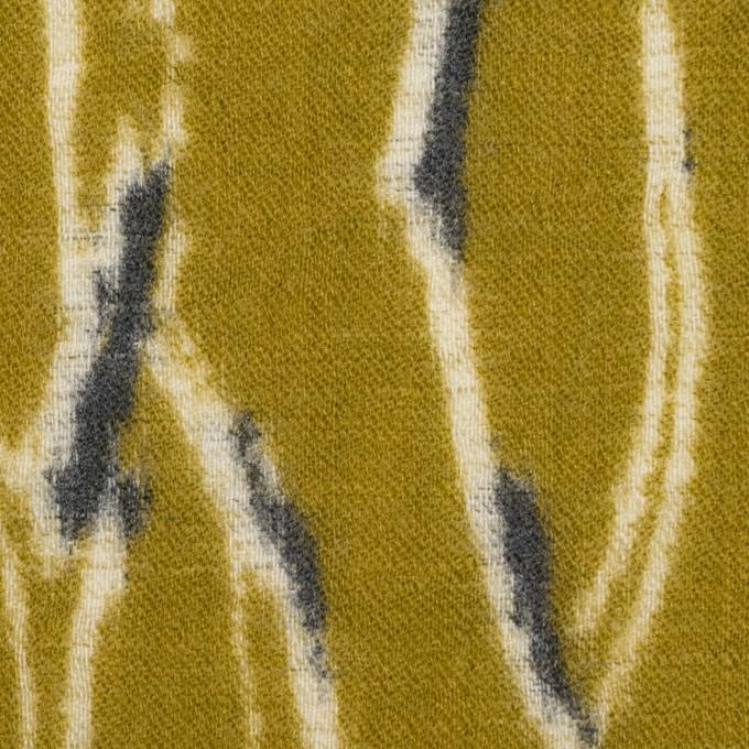 ウール×幾何学模様(アンティークゴールド)×薄サージ_全2色 イメージ1