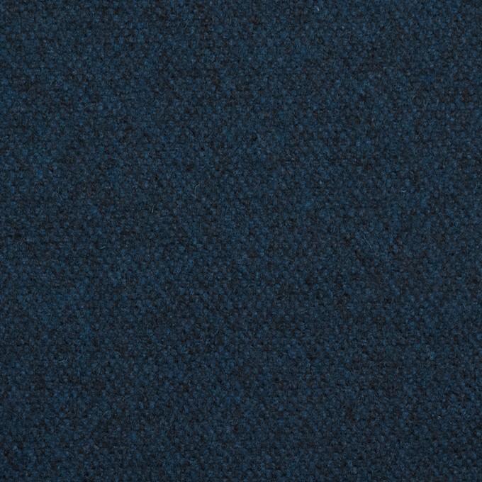 ウール×無地(ミッドナイトブルー)×ツイード イメージ1