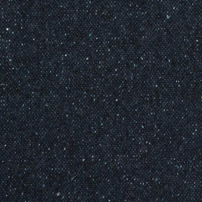 ウール&ナイロン混×無地(ミッドナイトブルー)×ツイード イメージ1