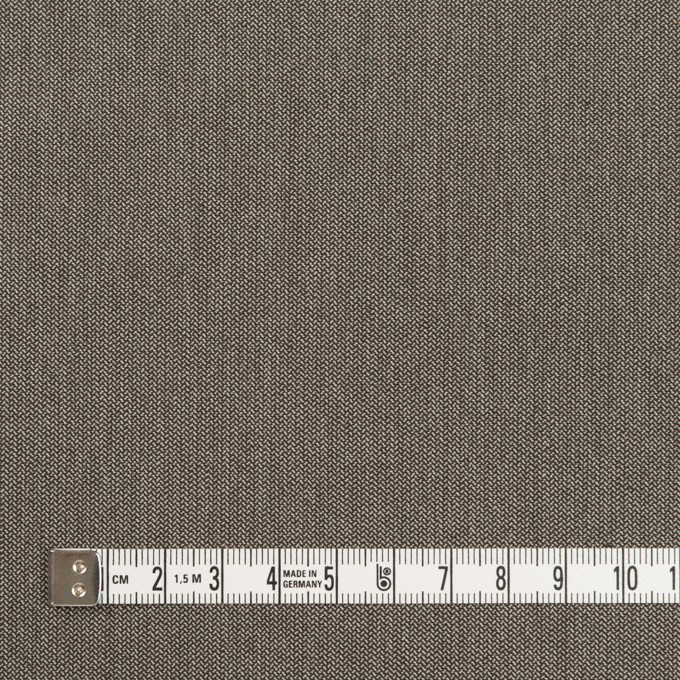 コットン&ナイロン混×無地(アッシュブラウン)×ヘリンボーン・ストレッチ_スイス製 イメージ4