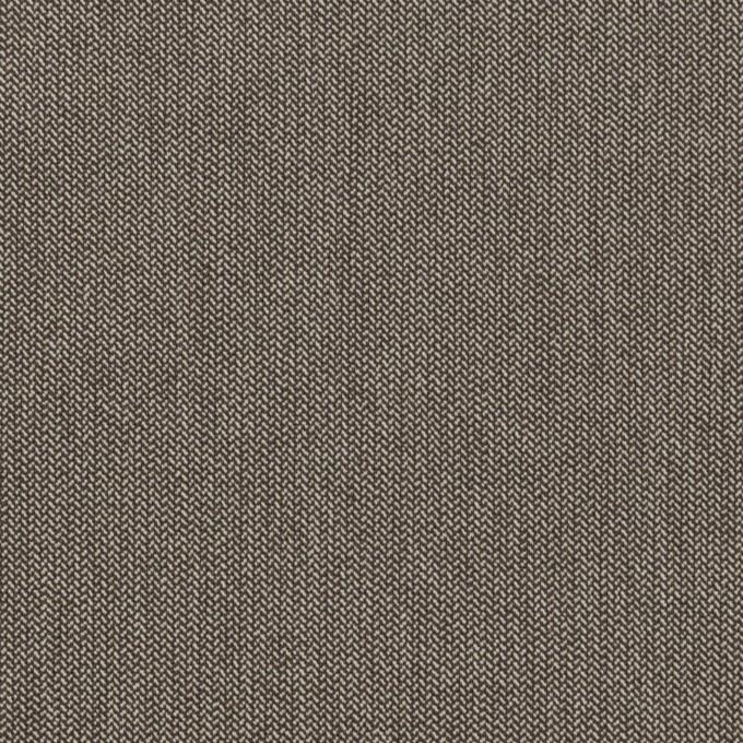 コットン&ナイロン混×無地(アッシュブラウン)×ヘリンボーン・ストレッチ_スイス製 イメージ1