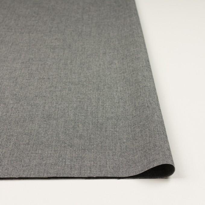 コットン&ポリウレタン×ミックス(チャコールブラック)×かわり織ストレッチ イメージ3