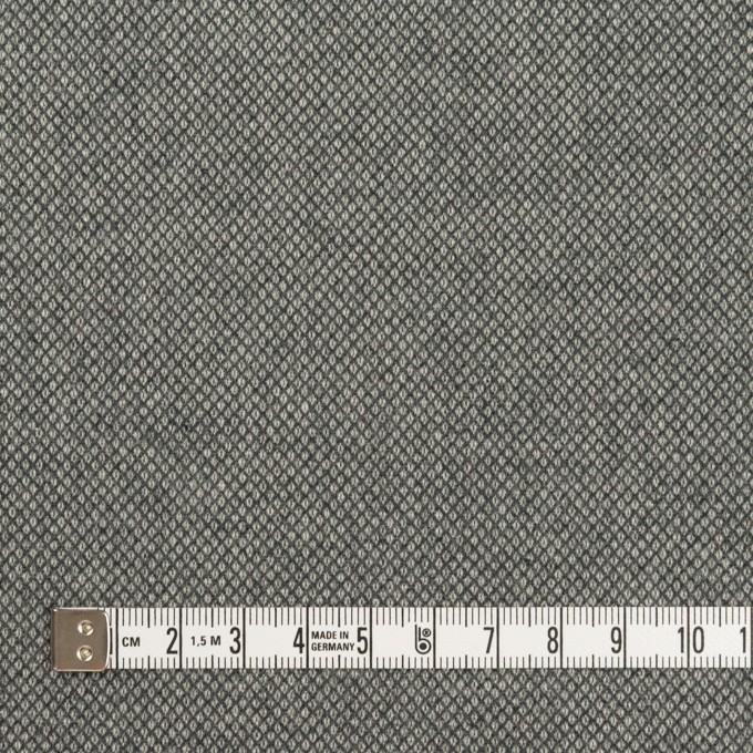 コットン&ポリウレタン×無地(グレー)×バーズアイ・ストレッチ_全2色 イメージ4