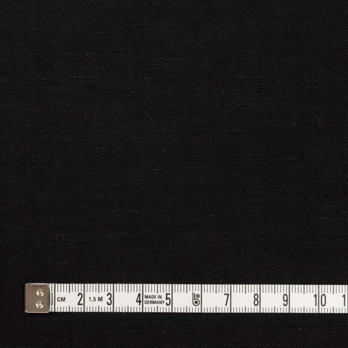 ウール&リネン×無地(ブラック)×サージ イメージ4