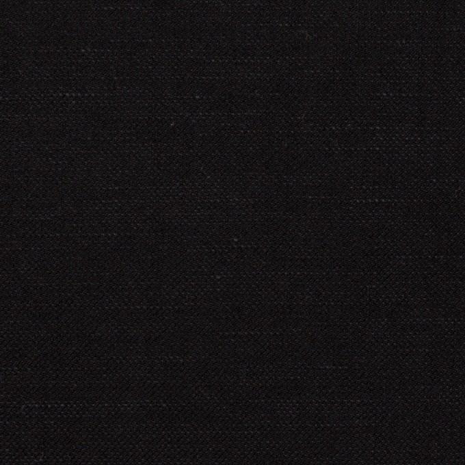 ウール&リネン×無地(ブラック)×サージ イメージ1