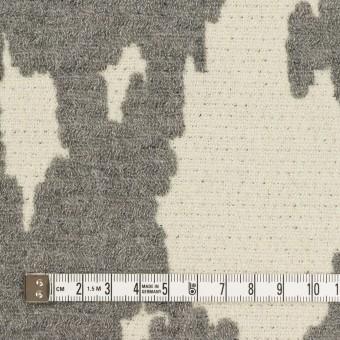 ウール&ナイロン×幾何学模様(キナリ&グレー)×二重織ジャガード_全2色 サムネイル4
