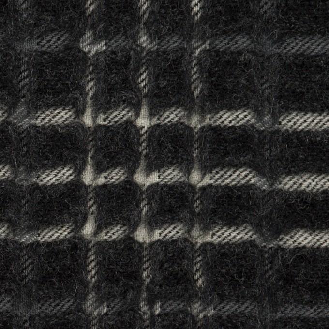 ウール×チェック(チャコール)×ジャガード_全2色 イメージ1