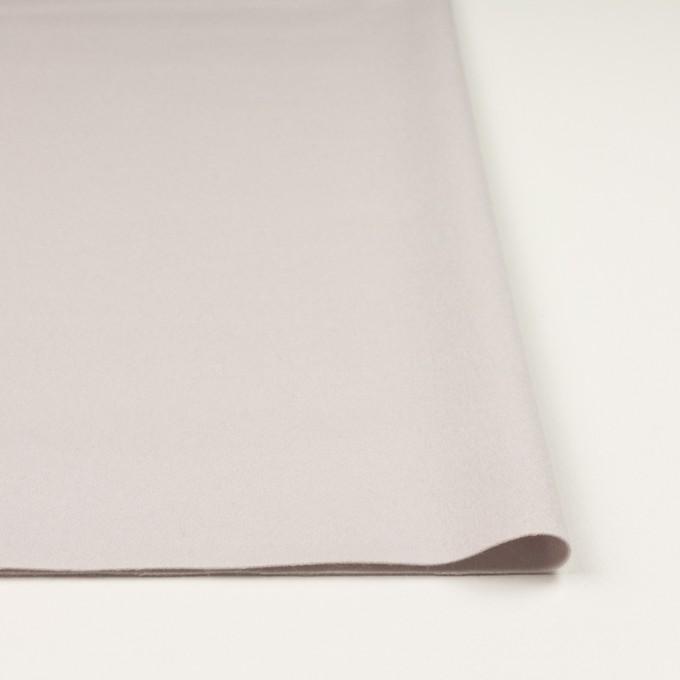 ウール×無地(パールグレー)×フラノ(フランネル) イメージ3
