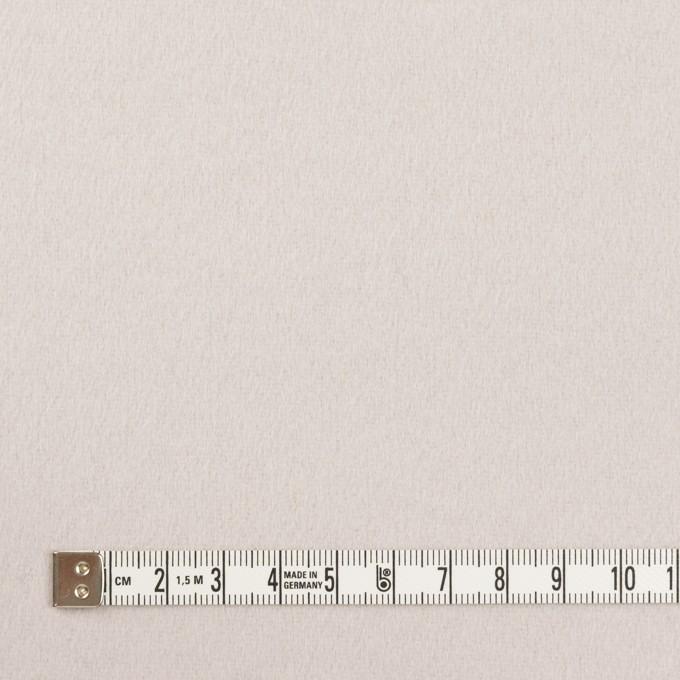 ウール×無地(パールグレー)×フラノ(フランネル) イメージ4