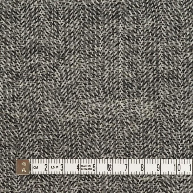 ウール×ミックス(ブラック)×ヘリンボーン・ガーゼ_全2色 イメージ4