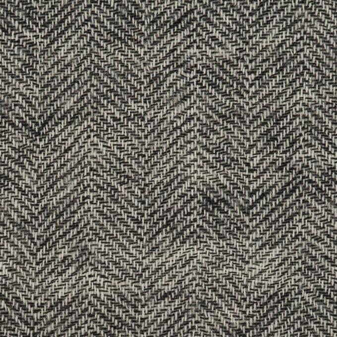 ウール×ミックス(ブラック)×ヘリンボーン・ガーゼ_全2色 イメージ1