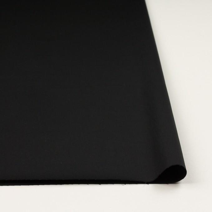 コットン&ポリウレタン×無地(ブラック)×サテンストレッチ_全2色_イタリア製 イメージ3
