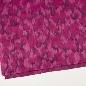 ウール&モヘア×幾何学模様(チェリーピンク)×シャギー_全2色 サムネイル2