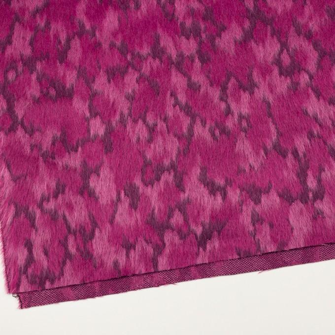 ウール&モヘア×幾何学模様(チェリーピンク)×シャギー_全2色 イメージ2