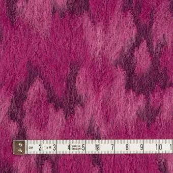 ウール&モヘア×幾何学模様(チェリーピンク)×シャギー_全2色 サムネイル4