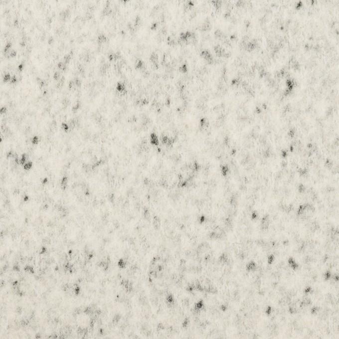 ウール&ナイロン×ミックス(アイボリー&ブラック)×圧縮ニット イメージ1