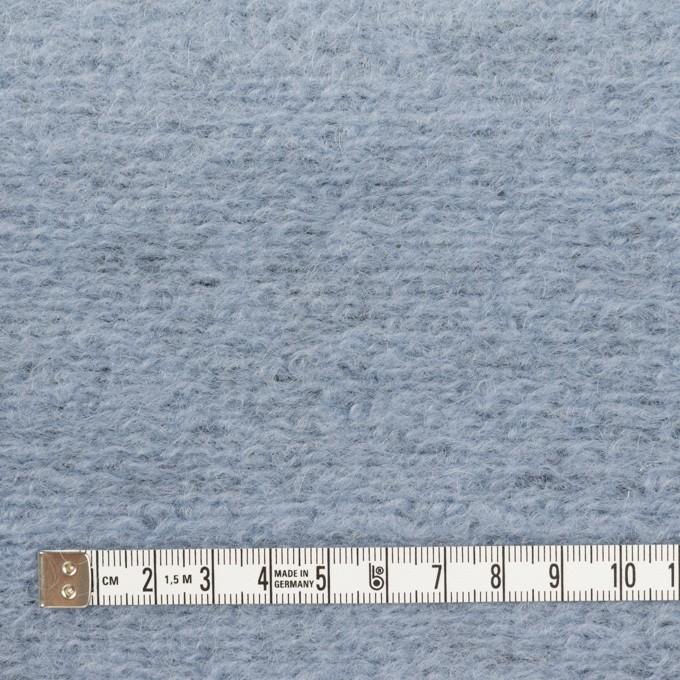 モヘア&ウール混×無地(ブルーグレー)×ループニット_イタリア製 イメージ4