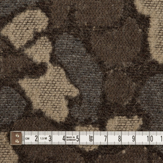 ウール&ポリエステル混×幾何学模様(グレー&モカブラウン)×ジャガード_全2色 イメージ4