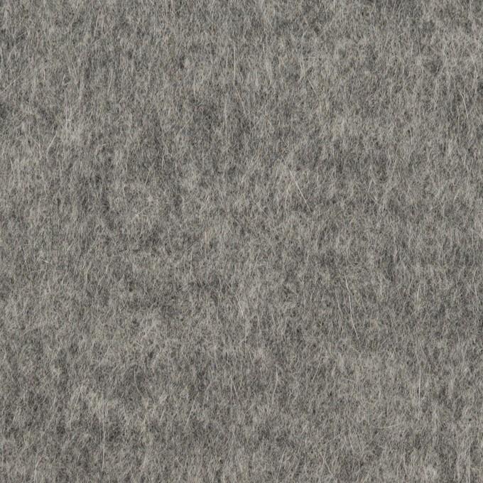 ウール&アンゴラ×無地(グレー)×シャギーニット イメージ1