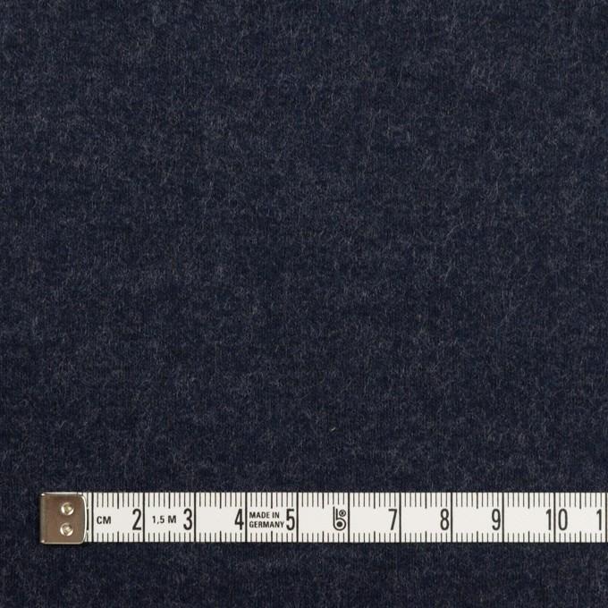 ウール×無地(アッシュネイビー)×圧縮ニット イメージ4