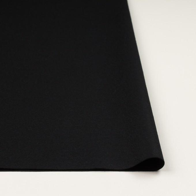 ウール×無地(ブラック)×圧縮ニット イメージ3