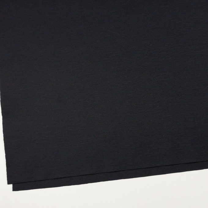 ウール×無地(チャコールブラック)×圧縮ニット_全2色 イメージ2