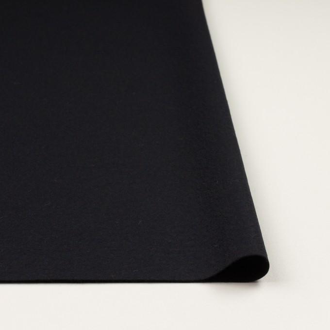 ウール×無地(チャコールブラック)×圧縮ニット_全2色 イメージ3