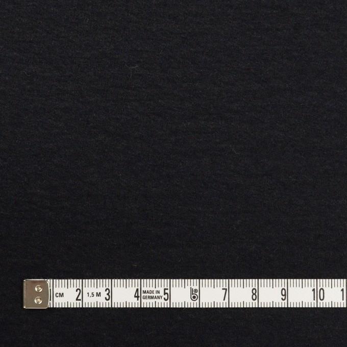 ウール×無地(チャコールブラック)×圧縮ニット_全2色 イメージ4