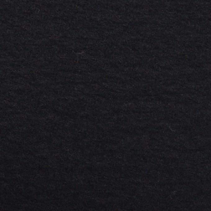 ウール×無地(チャコールブラック)×圧縮ニット_全2色 イメージ1