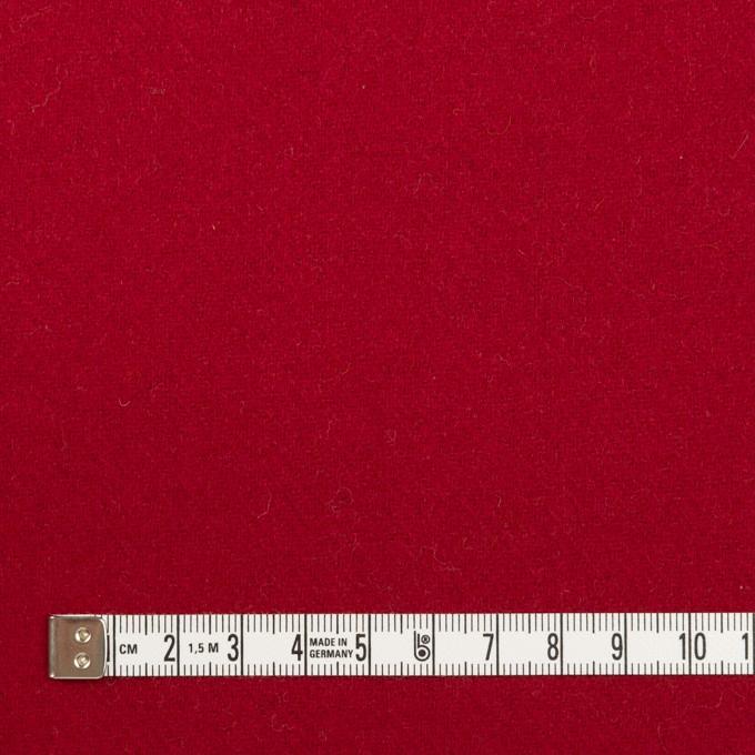 ウール×無地(バーガンディーレッド)×ソフトメルトン_全2色 イメージ4