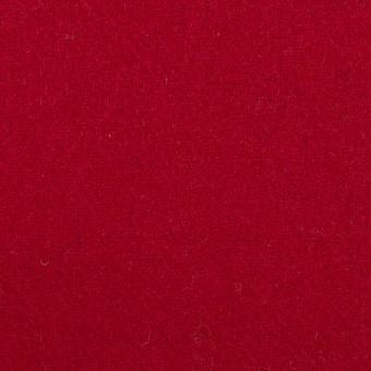 ウール×無地(バーガンディーレッド)×ソフトメルトン_全2色