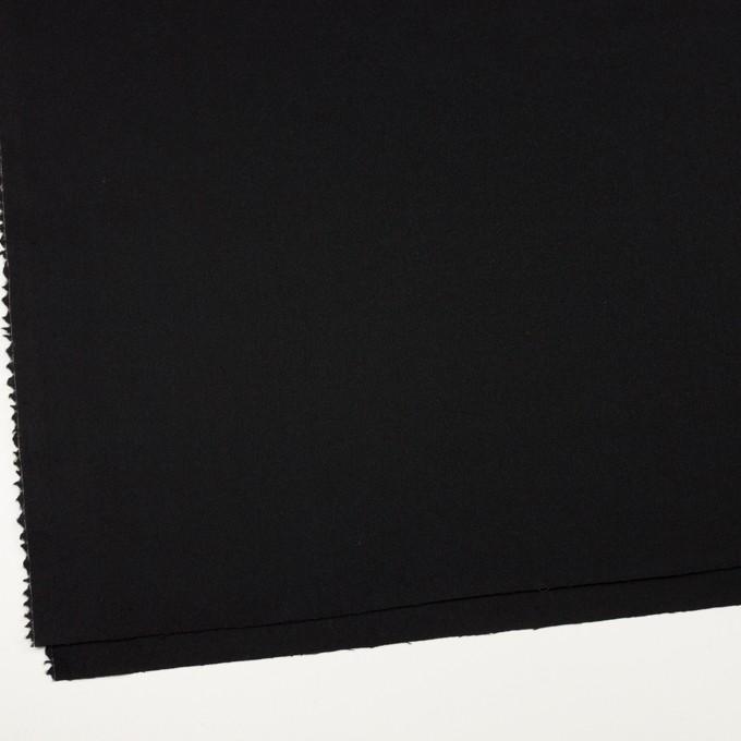 ウール×無地(ブラック)×ジョーゼット イメージ2