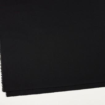 ウール&ポリウレタン×無地(ブラック)×サージストレッチ サムネイル2