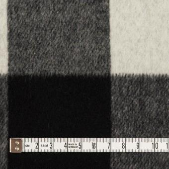 ウール&カシミア混×チェック&無地(ブラック&アイボリー)×ビーバー&フラノ(Wフェイス) サムネイル4