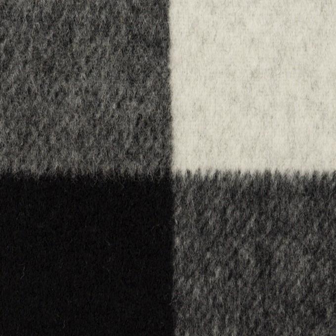 ウール&カシミア混×チェック&無地(ブラック&アイボリー)×ビーバー&フラノ(Wフェイス) イメージ1