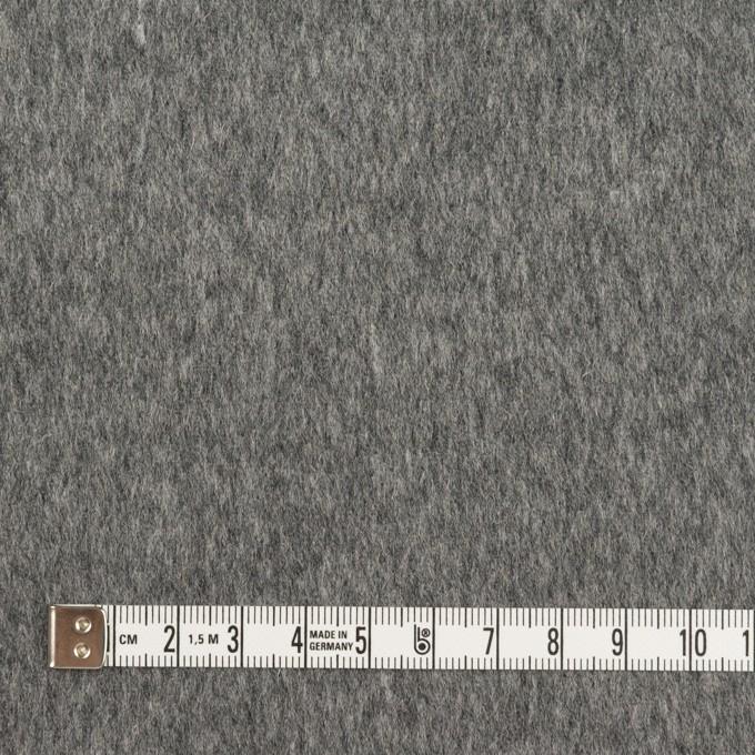 ウール&ポリエステル混×無地(チャコールグレー&ライトグレー)×Wフェイスビーバー イメージ4