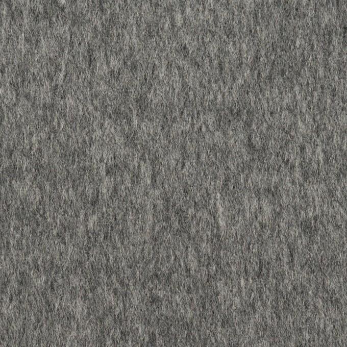 ウール&ポリエステル混×無地(チャコールグレー&ライトグレー)×Wフェイスビーバー イメージ1