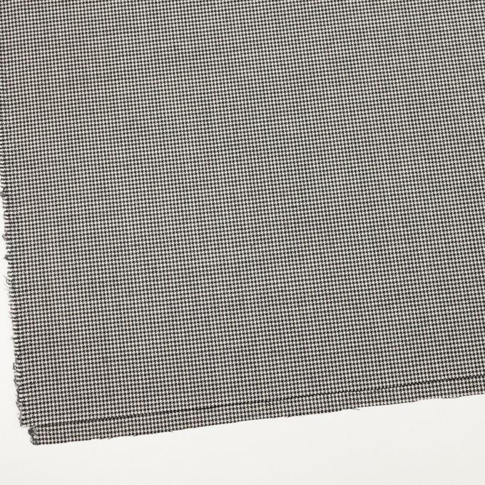 ウール×チェック(アイボリー&ブラック)×千鳥格子 イメージ2