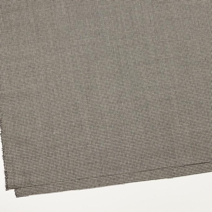 ウール&ナイロン混×チェック(キナリ&ブラック)×千鳥格子ストレッチ イメージ2