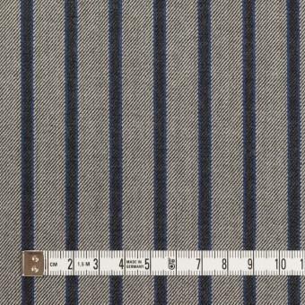 コットン&ポリウレタン×ストライプ(グレー&チャコール)×サージストレッチ サムネイル4