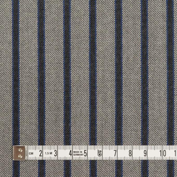 コットン&ポリウレタン×ストライプ(グレー&チャコール)×サージストレッチ イメージ4